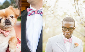Groom Style: Patterned Bow...