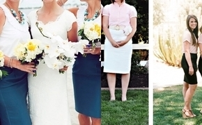 Bridesmaids in Skirts