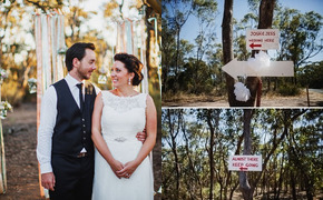 A Rustic Outdoor Wedding in...